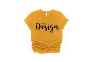 Bella Canvas 3001 Heather Mustard Mockup Graphic Product Mockups By Jolie Photo