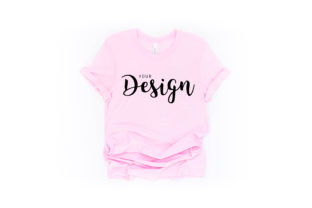 Bella Canvas 3001 Soft Pink Mockup Graphic Product Mockups By Jolie Photo
