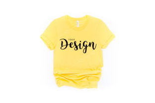 Bella Canvas 3001 Yellow T-shirt Mockup Graphic Product Mockups By Jolie Photo