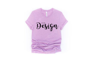 Bella Canvas Heather Prism Lilac Mockup Graphic Product Mockups By Jolie Photo