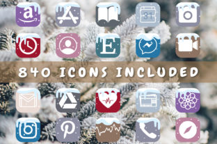 Print on Demand: Christmas Aesthetic App Icons for IOS 14 Graphic Icons By HappyDesignStudio
