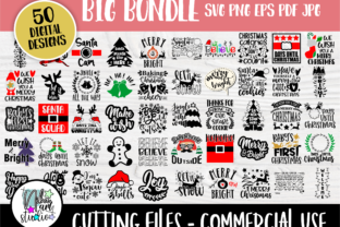 Print on Demand: Christmas Bundle, Christmas Shirts Graphic Crafts By nibaartstudio