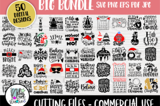 Print on Demand: Christmas Bundle Graphic Crafts By nibaartstudio