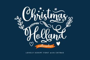 Print on Demand: Christmas Holland Script & Handwritten Font By ahweproject