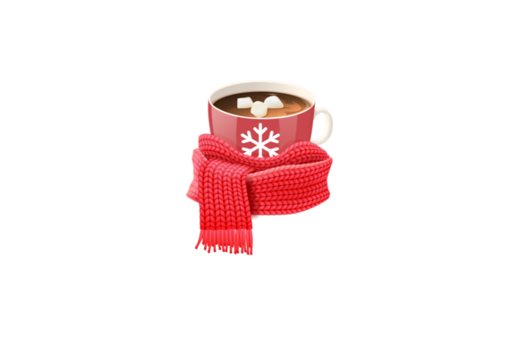Print on Demand: Christmas Hot Chocolate Illustration Graphic Illustrations By Roscoe Tots Design