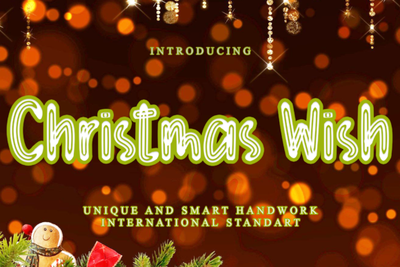 Print on Demand: Christmas Wish Display Font By dazzlinggleam