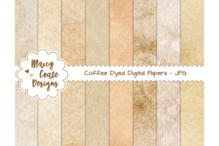 Coffee Dyed Printable Digital Papers Graphic Backgrounds By MarcyCoateDesigns