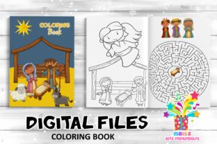 Print on Demand: Coloring Book Christmas Nativity I Spy Graphic Coloring Pages & Books Kids By marilakits