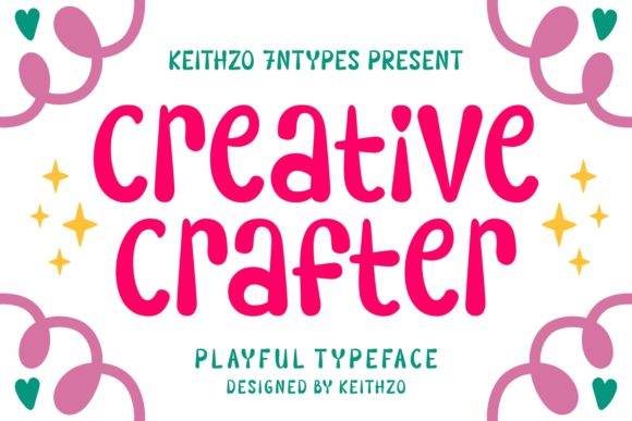 Print on Demand: Creative Crafter Display Font By Keithzo (7NTypes)