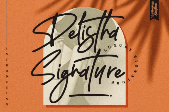 Print on Demand: Delistha Signature Script & Handwritten Font By letterenastudios