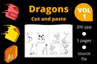 Print on Demand: Dragon Cut and Paste Volume 1 Graphic 1st grade By Dunkyshot