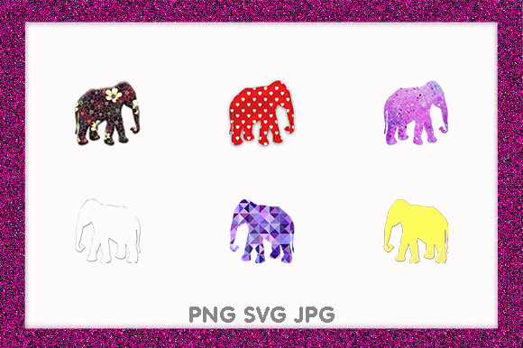 Print on Demand: Elephant Golden African Animal Design Graphic Illustrations By Chiplanay