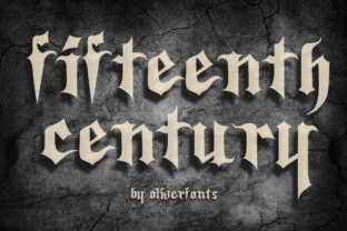 Print on Demand: Fifteenth Century Blackletter Font By OLIVERFONTS