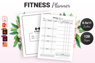 Print on Demand: Fitness Planner - KDP Interior Graphic KDP Interiors By KDP Ninja