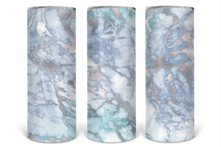Print on Demand: Full Wrap Ice Marble 20oz Skinny Tumbler Graphic Print Templates By Susan Alajoki
