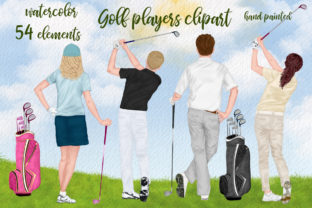 Print on Demand: Golf Clipatrt Golfer Clipart Graphic Illustrations By LeCoqDesign