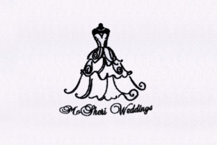Gown Silhouette Wife Embroidery Design By DigitEMB