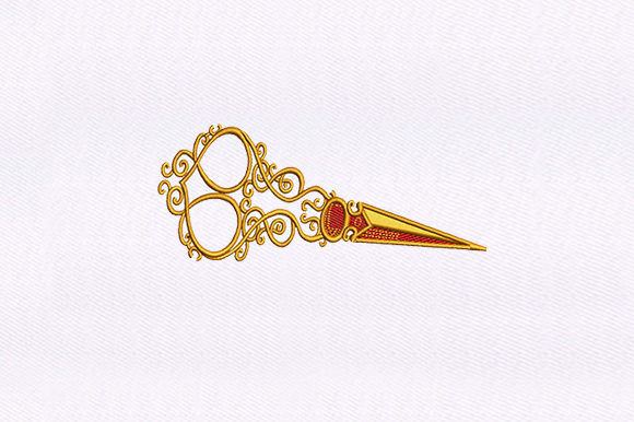 Hair Pin Beauty Embroidery Design By DigitEMB