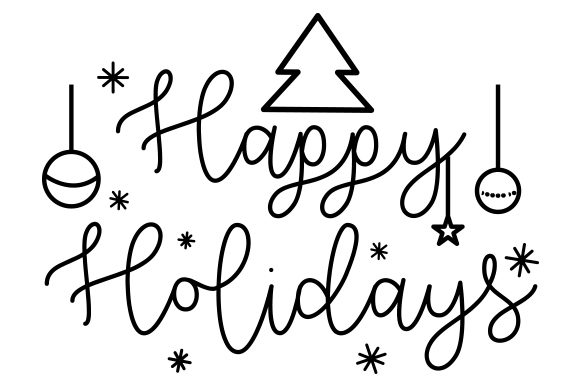 Print on Demand: Happy Holidays, Christmas Design Graphic Crafts By CarryBeautySVG