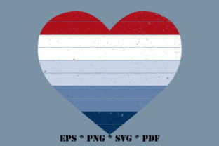 Print on Demand: Heart Distressed USA American Vector SVG Graphic Illustrations By GraphicsFarm