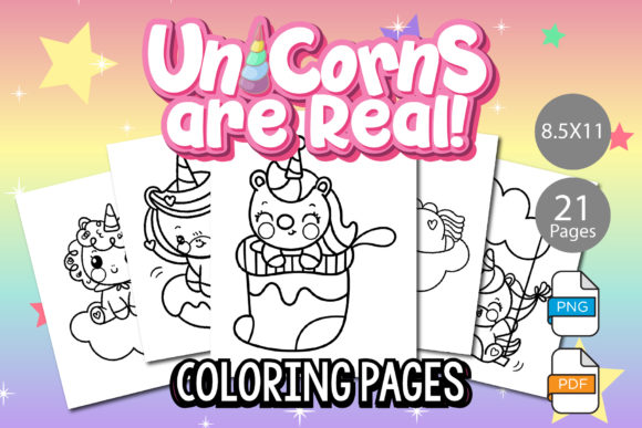 Print on Demand: KDP Interior - Unicorn Coloring Pages Graphic KDP Interiors By IsaraDesign