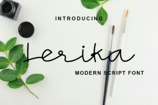 Print on Demand: Lerika Script & Handwritten Font By lafitte 58