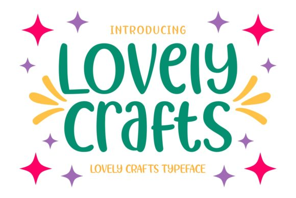 Print on Demand: Lovely Crafts Display Font By Keithzo (7NTypes)