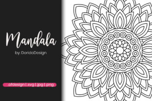 Print on Demand: Mandala Coloring Page for Adult Graphic Coloring Pages & Books Adults By doridodesign
