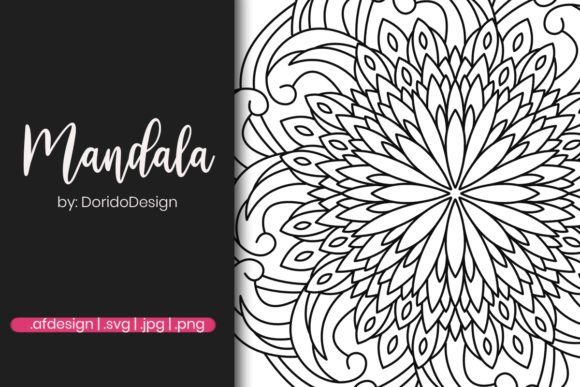 Print on Demand: Mandala Design for Coloring Page Graphic Coloring Pages & Books Adults By doridodesign