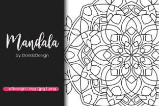 Print on Demand: Mandala Illustration for Coloring Page Graphic Coloring Pages & Books Adults By doridodesign