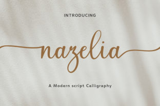 Print on Demand: Nazelia Script & Handwritten Font By SiwoxS