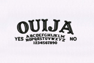 Ouija Board Text Design School & Education Embroidery Design By DigitEMB