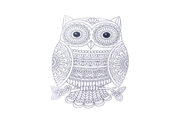 Owl Zentangle Coloring Page V2 Graphic By Capeairforce Creative Fabrica