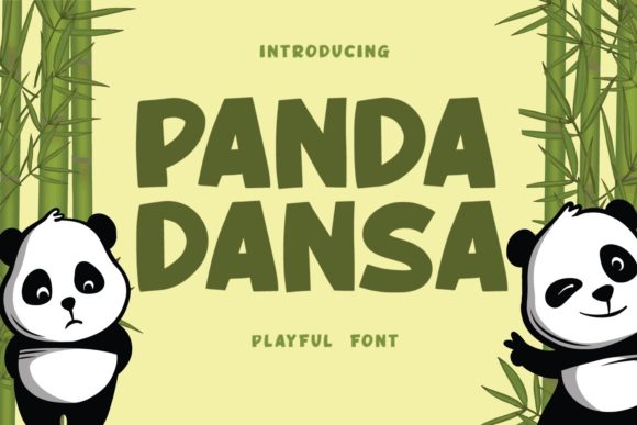 Print on Demand: Panda Dansa Display Font By Typefar