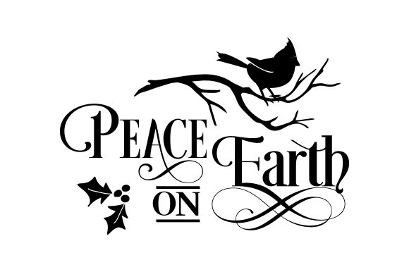 Print on Demand: Peace on Earth, Christmas Quote Graphic Crafts By CarryBeautySVG