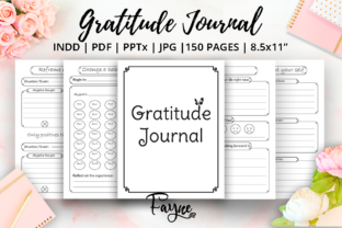 Print on Demand: Positivity Diary & Gratitude Journal KDP Graphic KDP Interiors By Fayne 1