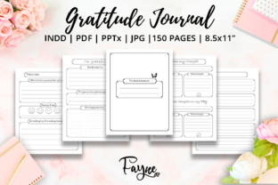 Print on Demand: Positivity Diary & Gratitude Journal KDP Graphic KDP Interiors By Fayne 2