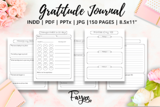 Print on Demand: Positivity Diary & Gratitude Journal KDP Graphic KDP Interiors By Fayne 3