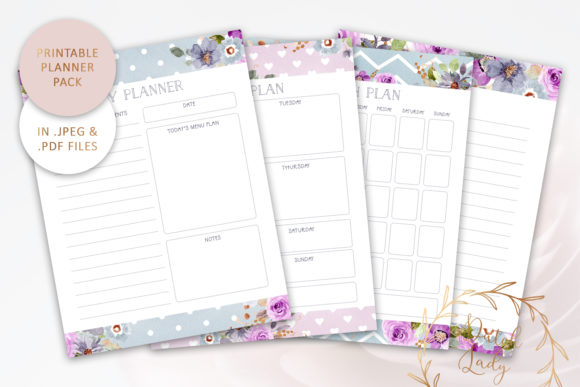 Print on Demand: Printable Planner Bundle #3 Graphic Print Templates By daphnepopuliers
