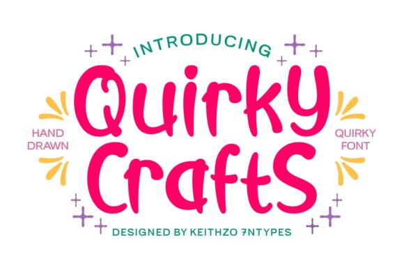 Print on Demand: Quirky Crafts Script & Handwritten Font By Keithzo (7NTypes)