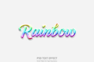 Rainbow 3D Text Effect Graphic Layer Styles By Sakib Mahmud Galib