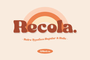 Print on Demand: Recola Display Font By AMost Store