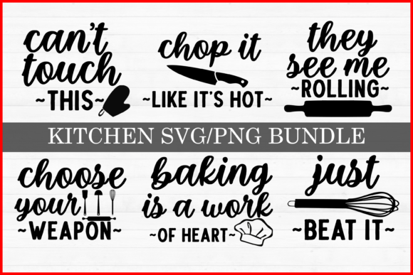 Print on Demand: Kitchen Quotes Bundle Graphic Print Templates By inlovewithkats
