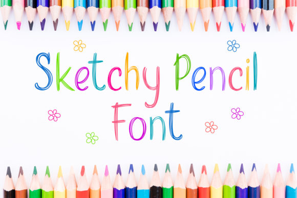 Print on Demand: Sketchy Pencil Script & Handwritten Font By OWPictures