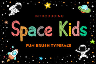 Print on Demand: Space Kids Display Font By NeutroneLabs 1