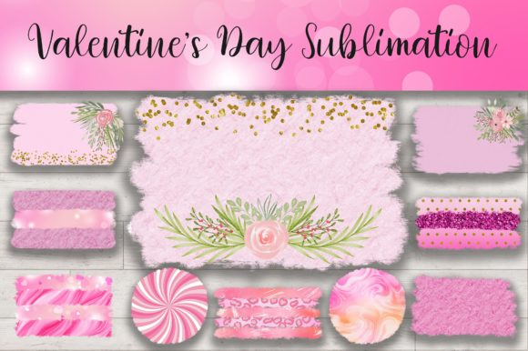 Sublimation Valentines Day Background Grafik Hintegründe von PinkPearly