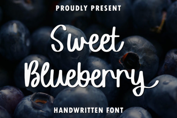 Print on Demand: Sweet Blueberry Script & Handwritten Font By rangkaiaksara