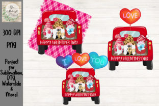 Truck with Gnomes, Valentines Day Bundle Graphic Crafts By You Make It Personal