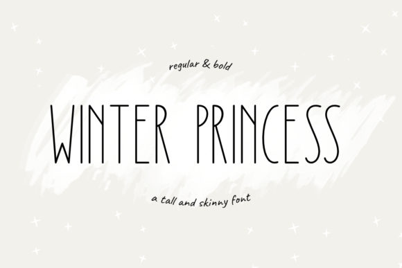Print on Demand: Winter Princess Sans Serif Font By jimtypestudio