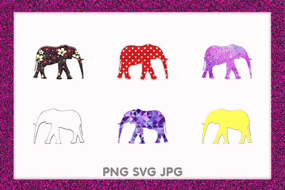 Print on Demand: Elephants African Wildlife Animal Design Graphic Illustrations By Chiplanay